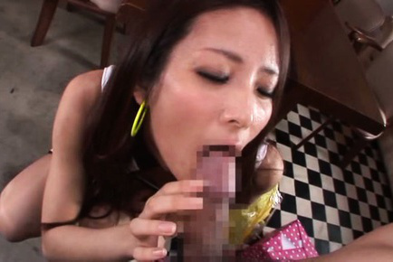 Maika kawanami. Maika Kawanami Asian on high heels licks and blowjob rough penis