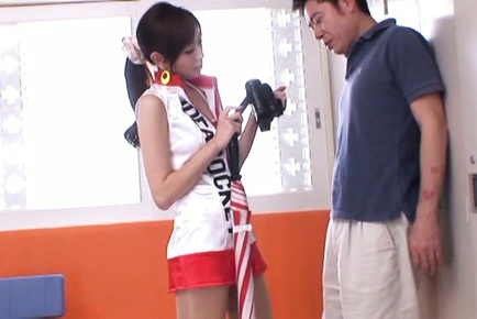 Kaori maeda. Kaori Maeda Asian in long boots has hot box licked