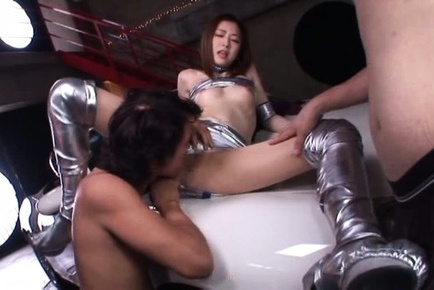 Ai haneda. Ai Haneda Asian in long boots has boobies touched in