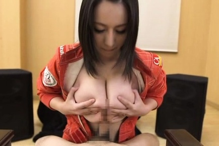 Japanese av model. Japanese AV Model pilot gets dong on her very generous hooters