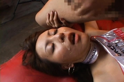 Jessica Kizaki hard cock in her pussy while wearing racequeen